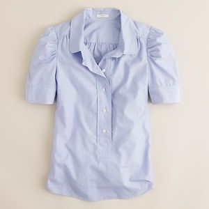 jcrew puff-sleeve popover shirt blouse